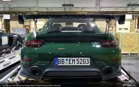 porsche british racing green green porsche 911 gt2 rs spied in america p9xx