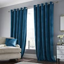 Teal Curtains Ashford Teal Lined Eyelet Curtains Dunelm