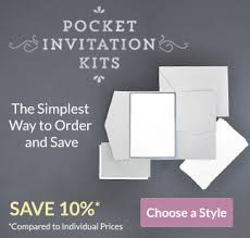 pocket invitations cards pockets diy wedding invitation supplies