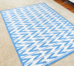 Floor Decore Flooring U0026 Rugs Awesome Zigzag Denim And White Dhurrie Rugs For