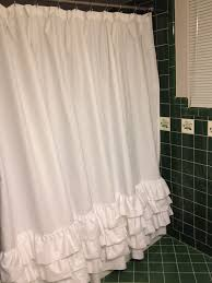 Teal Ruffle Shower Curtain by Bathroom Cozy Pottery Barn Apinfectologia Org