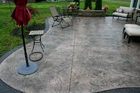 Patio Floor Designs Cozy Look Sted Concrete Patio Pattern With Colors Option