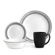Buy Corelle Dinner Set Online India Amazon Com Corelle Livingware 16 Piece Dinnerware Set Onyx