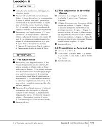 vista higher learning leccion 9 answer key 28 images cambios
