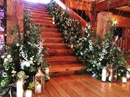 garden staircase winter wedding red lion inn fleur events