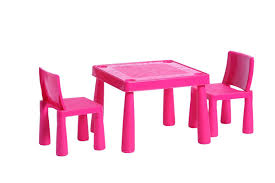 Plastic Tables And Chairs Childrens Kids Plastic Garden Outdoor Or Indoor Table And 2 Chairs