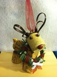 these cork reindeer ornaments are easy to make and would