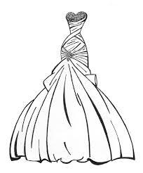 wedding dress coloring pages print 5174 wedding dress