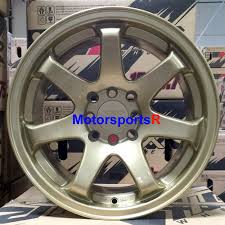 acura integra stance xxr 551 wheels 16 x 8 21 gold concave rims stance 4x100 94 01