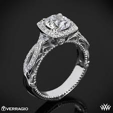 cushion halo engagement rings verragio 4 prong cushion halo engagement ring 1809