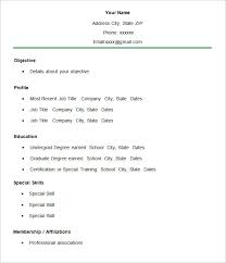 simple free resume template simple resume template 46 free sles exles format