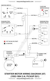 part 1 1992 1994 2 4l nissan d21 pickup starter motor wiring diagram