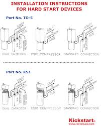 wiring diagrams ac blower capacitor air compressor start for run