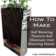 Self Watering Planters How To Make Self Watering Planters And Eliminate Over Watering