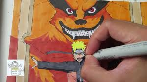 drawing naruto kurama ナルト 九喇嘛