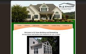 home remodeling website design r j snow home building u0026 remodeling u2013 websites