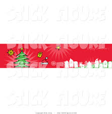 clip art of one red happy christmas greeting banner with party