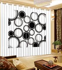 Black And White Bedroom Drapes High Quality White Room Black Curtains Promotion Shop For High