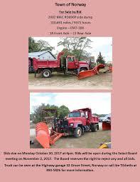 for bid dump truck for bid maine
