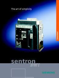 2 sentron 3wt acb door electrical components