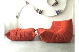 ligne roset sofa togo red design mid century ligne roset two seater togo sofa with