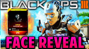 spectre face reveal black ops 3 chrome character gear youtube