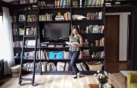 bookshelves in living room home tour emma s living room a beautiful mess