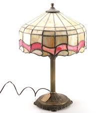 Glass Table Lamp Circa 1920 Tiffany Style Stained Glass Table Lamp Ebth