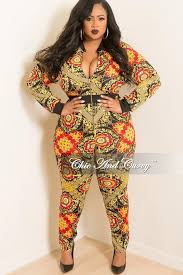 black and gold jumpsuit plus size jumpsuit with front gold zipper in gold navy