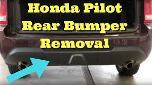 2006 honda pilot rear bumper 2011 2012 2013 2014 2015 honda pilot rear bumper removal