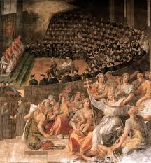 Council Of Trent Decree On The Eucharist Reformation Depiction Of The Council Of Trent The Catholic