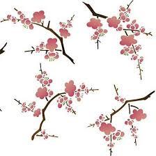 wall stencils cherry blossoms flower stencil royal design