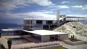 modern style house modern style original sea house 3d cgtrader