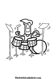 drums coloring page disneys donald duck playing drum coloring