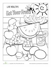 food coloring page fruit worksheets food and