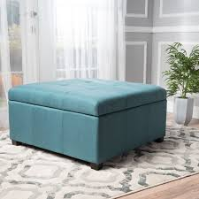 Aqua Storage Ottoman Latitude Run Ernestine Storage Ottoman Reviews Wayfair