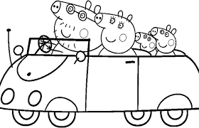 coloring pages peppa the pig peppa pig printable coloring pages entertaining pig coloring page