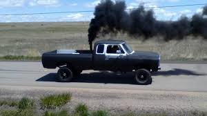cummins truck lifted 1st gen cummins 100yd burnout youtube