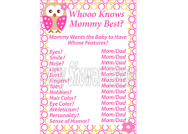 who knows best baby shower pink owl theme baby shower who knows best girl