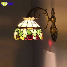Mediterranean Wall Sconces Fumat Stained Glass Wall Light Mediterranean Wall Sconce Creative