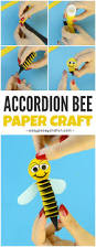 accordion paper bee craft easy peasy and fun
