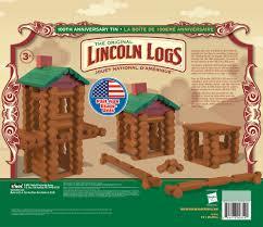 Lincoln Log Homes Floor Plans Lincoln Logs 100th Anniversary Tin Walmart Com