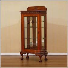 Small Glass Door Cabinet Corner Curio Cabinets With Glass Doors Cabinet Home Decorating