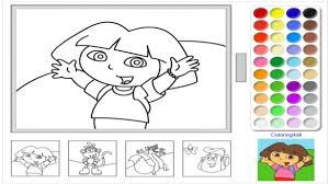dora coloring pages for toddlers online coloring pages for kids dora the explorer game readgyan