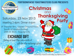 fort bonifacio toastmasters christmas and year end party fort