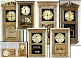personalized clocks with pictures handcrafted wooden clocks awards clock unique wood clocks