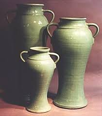Bauer Vase Bauer Pottery Matt Carlton Ruffled Rim Vase Bauer Pottery