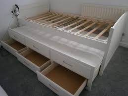 Single Bed Frame White Single Bed Frame With Pull Out Guest Bed Including Mattress