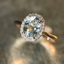 aquamarine and diamond ring handmade aquamarine engagement ring 9x7mm oval aquamarine