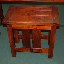Cherry End Tables Plank Top End Table Shown In Rustic Cherry With A